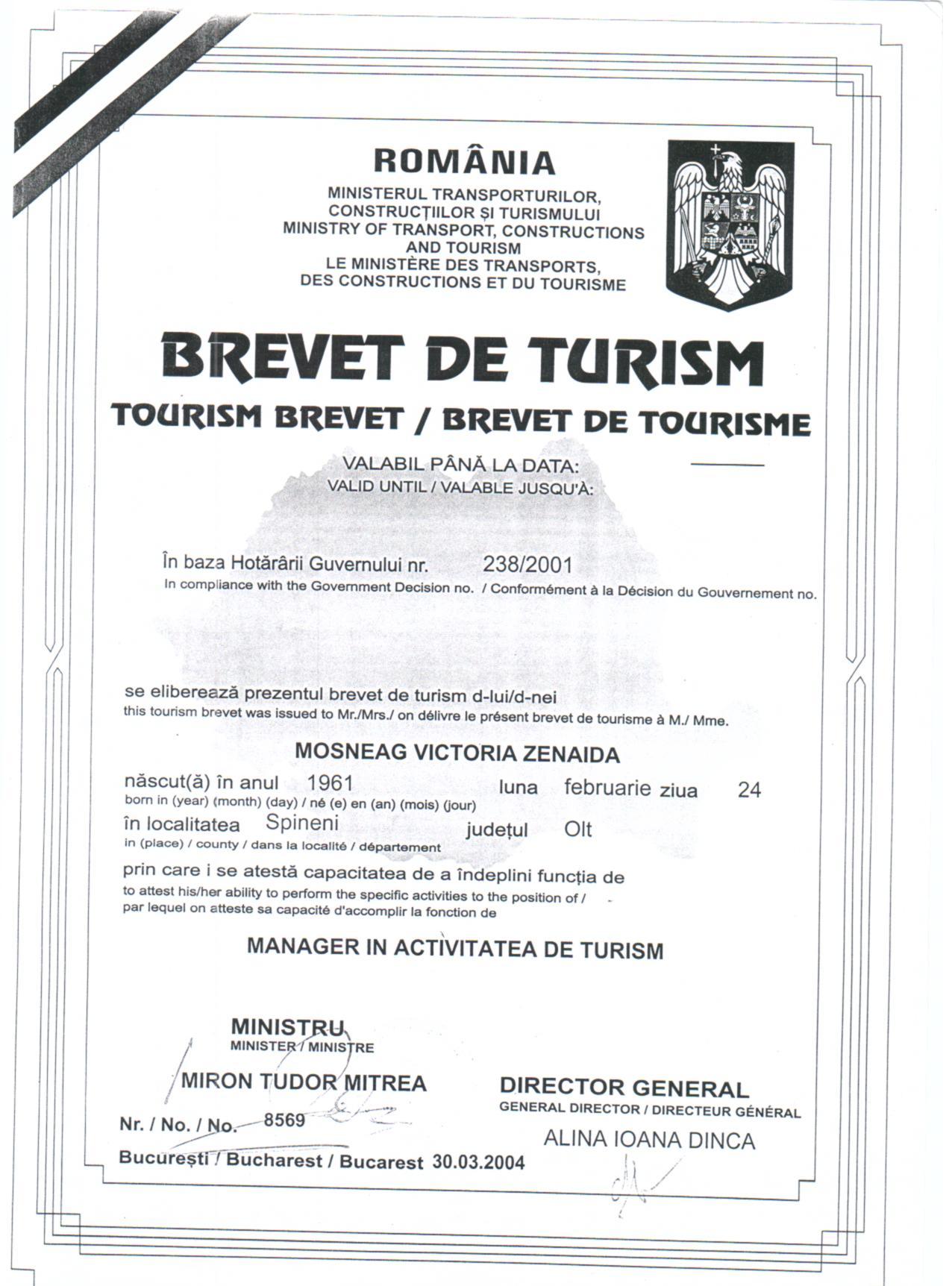 Brevet Turism Nexus 001