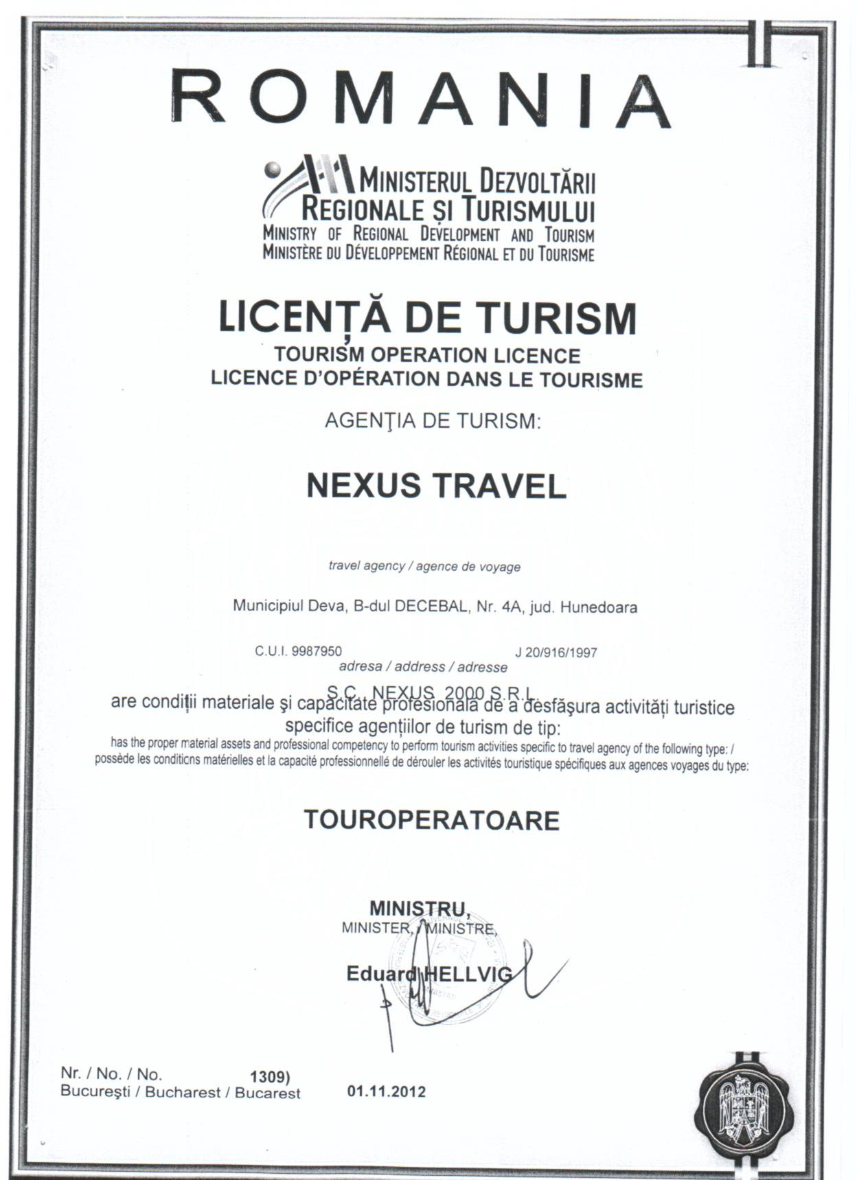 licenta turism NEXUS 001